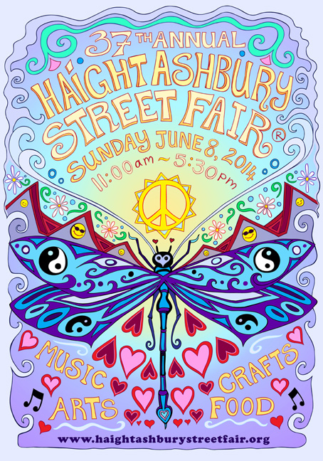Haight-Asbury Street Fair Postcard 2015