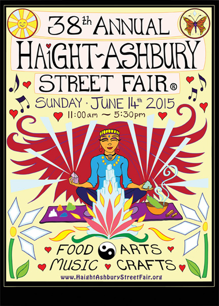Haight Ashbury Street Fair 2015 Runner Up Poster