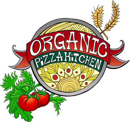 Organic Pizza Kitchen Logo